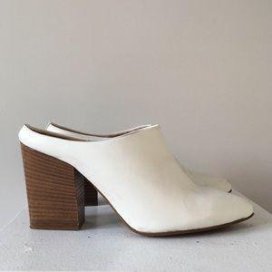 TopShop White Mule Heels